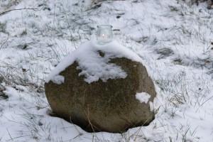 Feuer auf dem Stein
