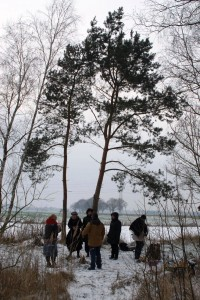 Gemeinschaft im Schnee