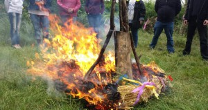 Das Feuer ist entzündet