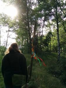 Auf dem Weg zum Ritualplatz