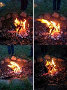Das Ritualfeuer lodert