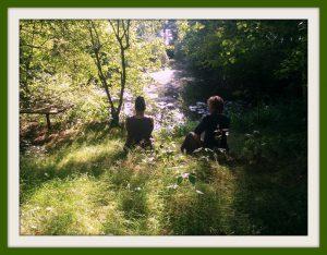 Wie so oft endete der Tag in herrlicher Abendstimmung am Teich. Ein wunderschöner Platz.